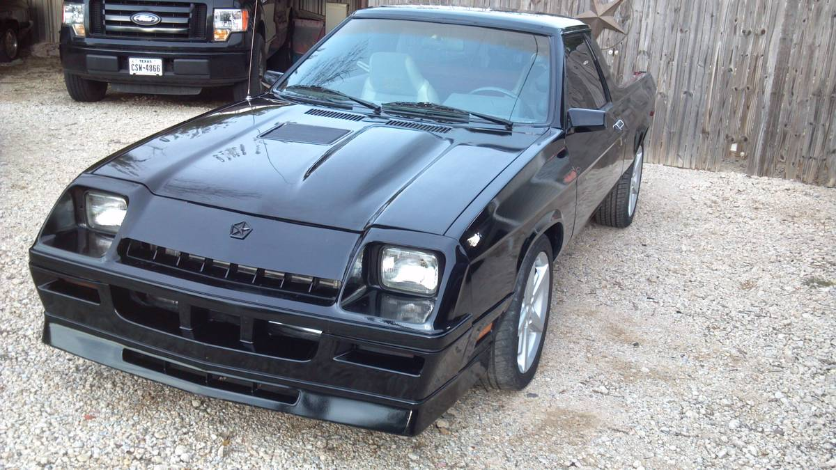 1984 Dodge Rampage Shelby Hybrid Turbo 300hp For Sale Burleson Tx