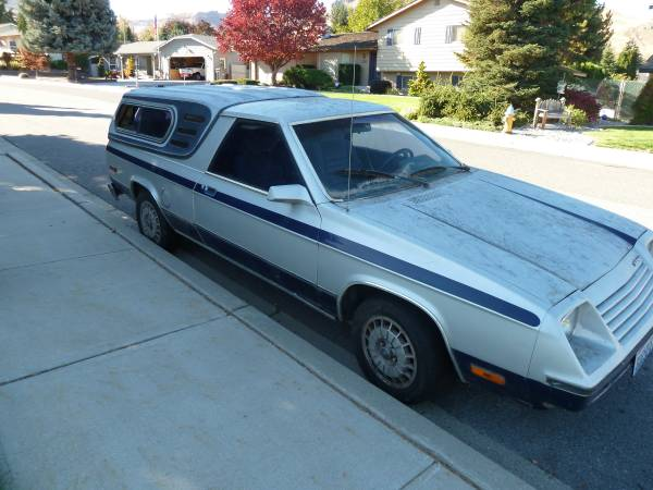 1983 Dodge Rampage V4 Automatic For Sale in Wenatchee ...