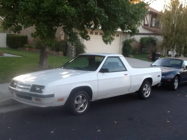 1984 Dodge Rampage V4 Auto For Sale in Santa Clarita ...