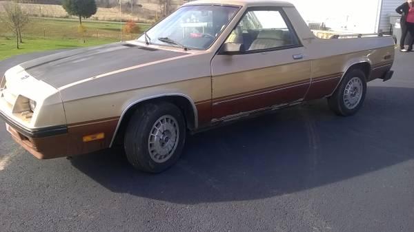 1984 dodge rampage auto for sale in brandenburg kentucky for Craigslist hattiesburg farm and garden